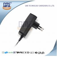 Black Wall Mount Power Adapter EU Plug 90V - 264V AC GS CE Approved Manufactures