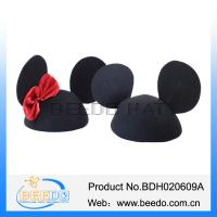 China 2015 new fashion black cat ear mickey hat for ladies on sale