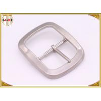 Custom Silver Plated Pin Belt Buckle / Mens Fashion Belt Buckles Manufactures