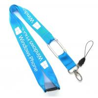 China Screen Print Cell Phone Lanyard With Egg Hook , Break Away Lanyards on sale
