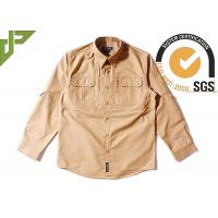 China Brown Tactical Combat Shirt / Air Force Abu Combat Shirt Military Style Rub Resistance on sale