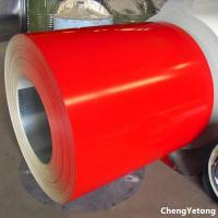 Building Corrugated Panel Coated Aluminum Coil , Plain Color PU Coating Metal Coil Stock Manufactures