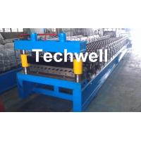 Corrugated Profile Roll Forming Machine , Corrugated Sheet Making Machine With PLC Control System Manufactures