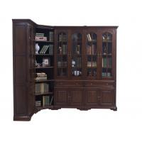 Quality Home Office Study room furniture American style Big Bookcase Cabinet with Display chest can L shape for corner wall case for sale