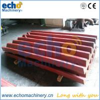 China crusher industry machine parts jaw liner with high manganese Mn13%, Mn18%, Mn22% on sale