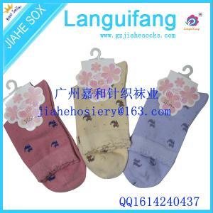 Wholesales socks women pure cotton socks ankle sock Manufactures