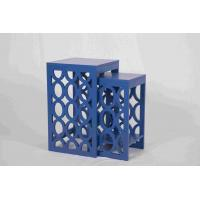 Blue Modern Nesting Tables, Ergonomic Wooden Bedside Table 58 Cm Height Manufactures
