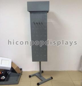 Retail Flooring Pegboard Display Racks / Pegboard Jewelry Display Manufactures