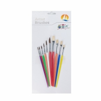 China Pony / Bristle Hair Round Head Professional Artist Paint Brush Set on sale
