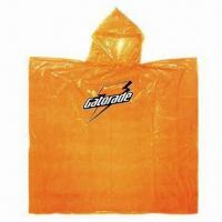 Emergency Poncho, Made of 0.03mm PE Material Manufactures