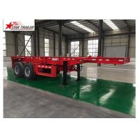 China ABS Anti - Lock Braking Lowboy Flatbed Trailer With Water Proofed Paint on sale