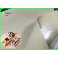 China Food Safe Coated PE Natural Kraft Paper For Street Food Tray Package Custom on sale