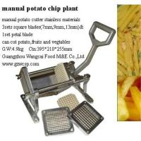 Manual potato chip plant,kitchen potato chip cutter Manufactures
