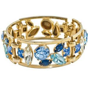 China Gold Plated Bangle Bracelet Wide Rhinestone Bangle For Women Gift on sale