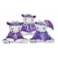 Purple Stuffed Milk Cow Animal Promotional Gifts Toys 8 Inch CE Standard Manufactures