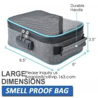 China Child Proof Travel Herb Storage Case Large Stand Up Carbon Lining Smell Proof Resealabe Ziplock Stash Bags bagease pac on sale