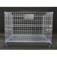 China Stable Industrial Wire Containers Strong Metal Mesh Cage 800KG Load Capacity on sale