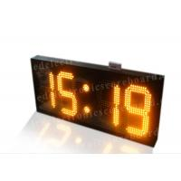 Amber Color Electronic Countdown Timer , Outdoor Type Countdown Led Clock Manufactures