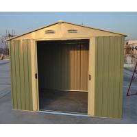 Easy Build Silver Garden Apex Metal Shed / Garage Shed With 4 Windows 10ft x 10ft Manufactures