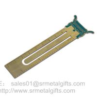 Personalized Etch metal page marker rulers