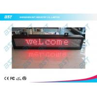 Red Color 1 Line Text Message LED Scrolling Sign for retail store / super market Manufactures