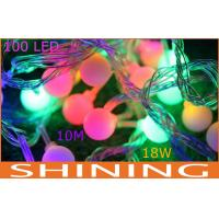 Waterproof 10m RGB LED String Lights , 100pcs Ball Shape Lamps Manufactures