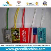 Custom Printed PVC Luggage Tag W/PVC Strip Connector Manufactures