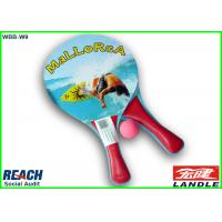 China Full Printed Wooden Beach Rackets / Sports Paddle Tennis Rackets on sale