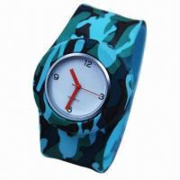 China Silicone Watch, Sport Watch, Japan Movement, Nontoxic, Customized Colors and Materials Accepted on sale