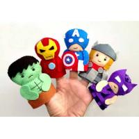 Fashion Cartoon Plush Toys The Avengers Felt Finger Puppets , For Promotion Gifts and Premium Manufactures