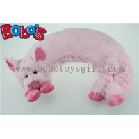 China Microwave Heated Plush Pig Neck Pillow Filled with Flaxseeds and Larender on sale