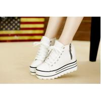 2015 new Asia style canvas shoes height increasing navy wind women