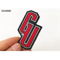 China Letter Name Clothing Embroidery Patches Iron On Backing Twill Background on sale