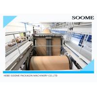 Corrugated Paper Sheets Carton Production Line Electric Driven Type 380V / 50HZ Manufactures