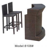 3pcs wicker  public house club counter bar  table and armless chairs-8108 Manufactures