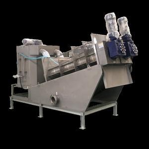 China Multi Plate Screw Press Dewatering Machine Sewage Treatment Plant Equipment on sale