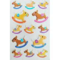 China Safe Nontoxic 3D Foam Stickers Removable Lovely Riding Horse For Kids on sale