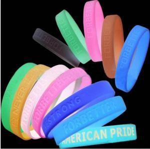 Sports Silicone Bracelets / custom bracelet glow in dark Manufactures