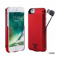 Iphone7 Backup Wireless Charging Battery Case , Handheld Portable Chargeable Phone Case Manufactures