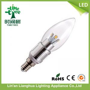Decorative Candelabra e27 / b22 / e14 Led Light Candle Bulbs With Aluminum Holder Manufactures