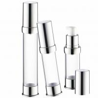 China Cosmetic Liquid Foundation Pump , Refillable Airless Lotion Pump Without Straw on sale