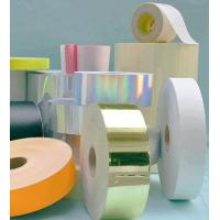 Thermal copper plate self adhesive label customized Synthetic sticker paper roll Manufactures