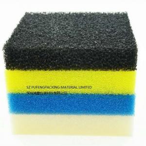 Environmental Water Treatment Sponge Foam Filter , Black Blue Aquarium Filter Foam Manufactures