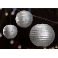 "Buy cheap 14"" Printed Silver Gold Circle Paper Lanterns Handmade Craft For Cultural Garden from wholesalers"