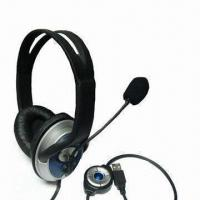 Buy cheap 2.1 Channel Headphone with Microphone, USB Plug, Stero Sound and Speaker On/Off from wholesalers