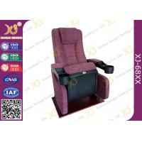 An Ergonomic Comfortable Aircraft Type Headrest Cinema Theater Chair Folding Seat Manufactures