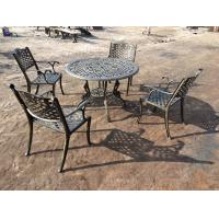 Green Outdoor View Cast Iron Garden Furniture Set Weather Resistant For Restaurant Manufactures