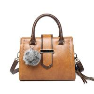 Lady bag 2017 winter new design handbag Korean Fashion Shoulder Bag Large capacity Cross body bag with Fuzzy ball tassel Manufactures