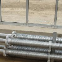 "Hot - galvanized steel Greenhouse heating pipes with wings , 5/4"" Manufactures"