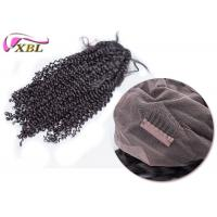 Deep Wave Full Lace Human Hair Wigs For Black Women , Full Cuticle Curly Full Lace Wigs No Chemical Smell Manufactures